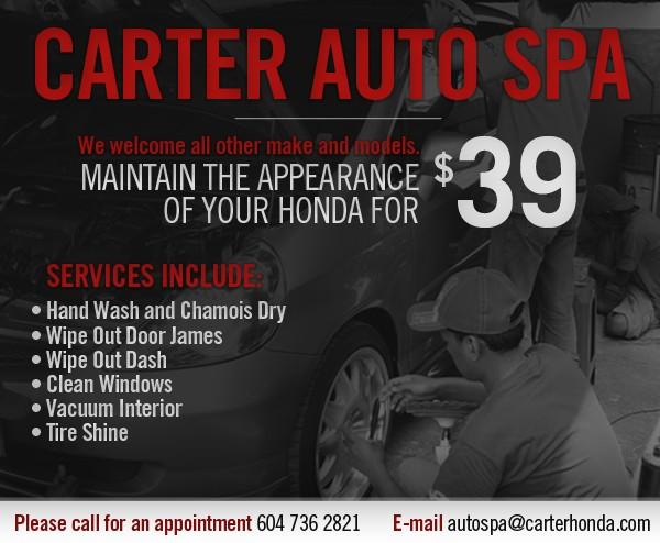Carter Auto Spa $39