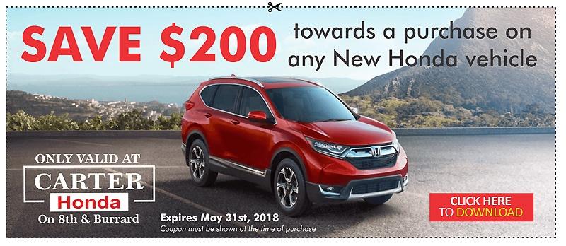 Carter Honda Vancouver Coupon