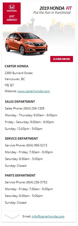 2019 Honda Accord at Carter Honda in Vancouver